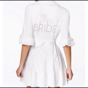 "Betsey Johnson White ""The Bride"" Terry Robe Large"